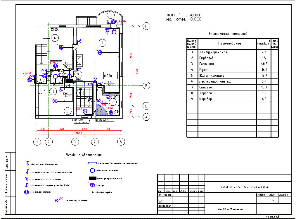 образец проекта электроснабжения частного дома - фото 11