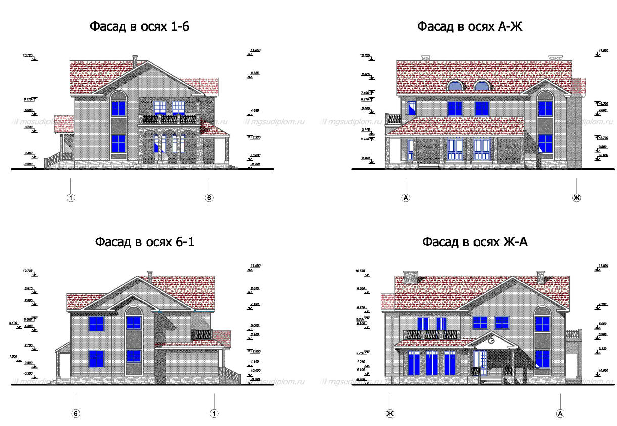 Курсовые и Дипломные проекты Коттеджей Архив проектов домов  Дипломный Проект
