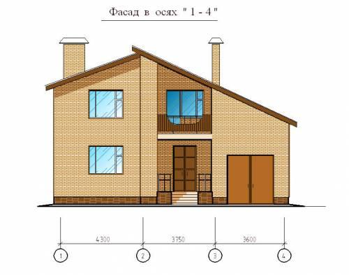 Двухэтажный дом из блоков