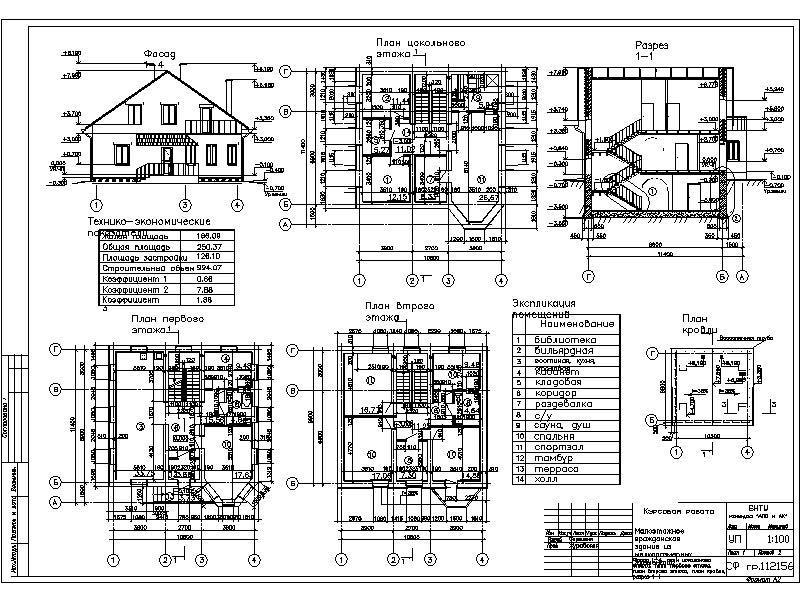 Скачать>>> Курсовая работа по Архитектуре на тему Малоэтажное  Курсовая работа по Архитектуре