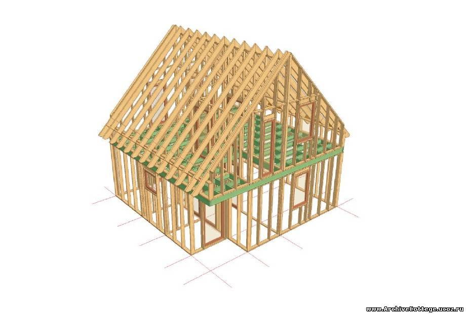 Каркасно-щитовой садовый домик своими руками
