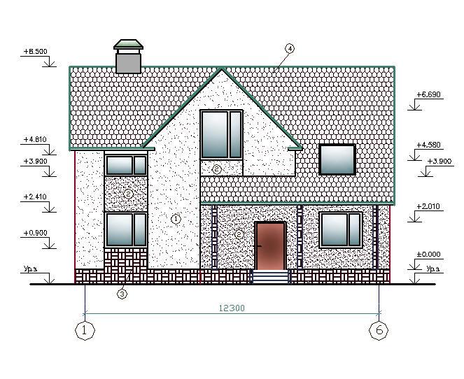 Проект Индивидуального Дома В Autocad