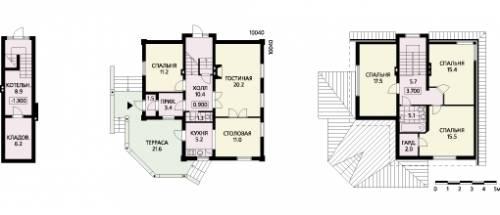 Полный рабочий проект одноквартирного жилого дома со стенами из газобетона