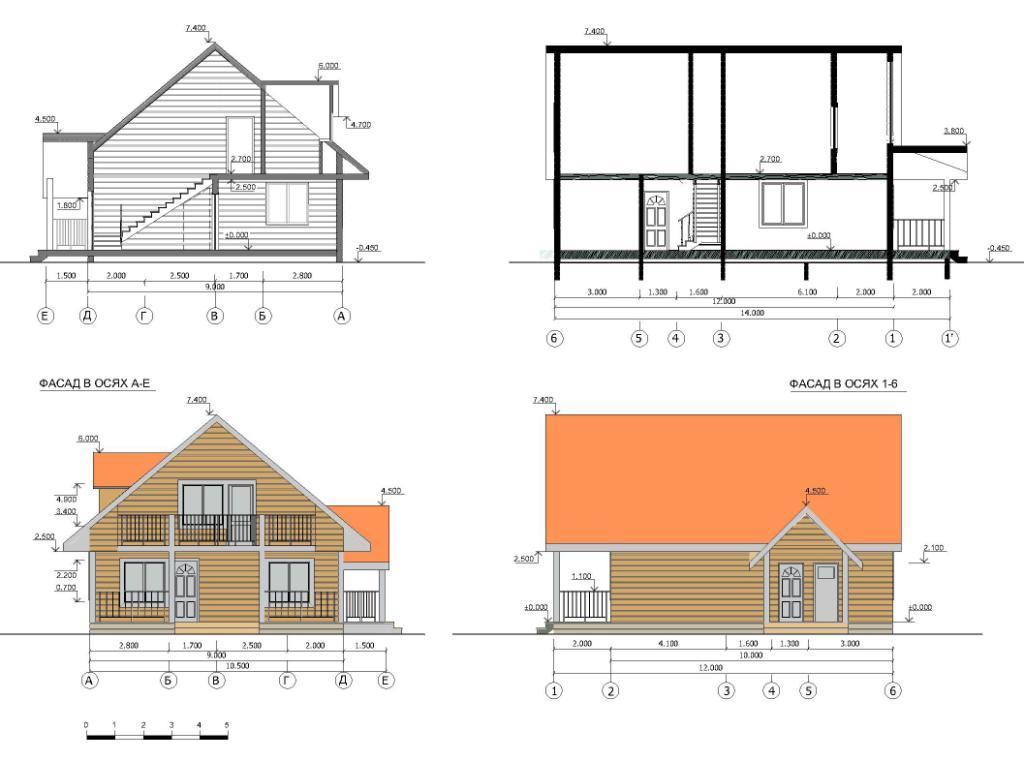 Эскизный проект индивидуальный жилой дом