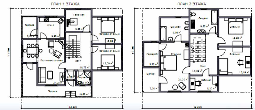 Простые проекты домов и коттеджей бесплатно чертежи и фото