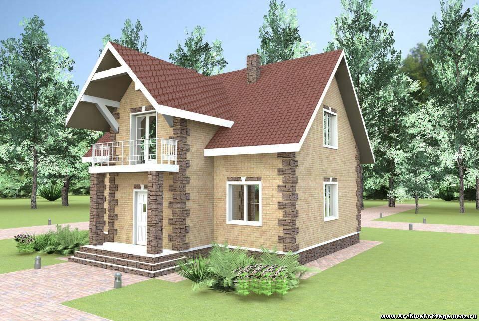 Жилой дом с мансардой из