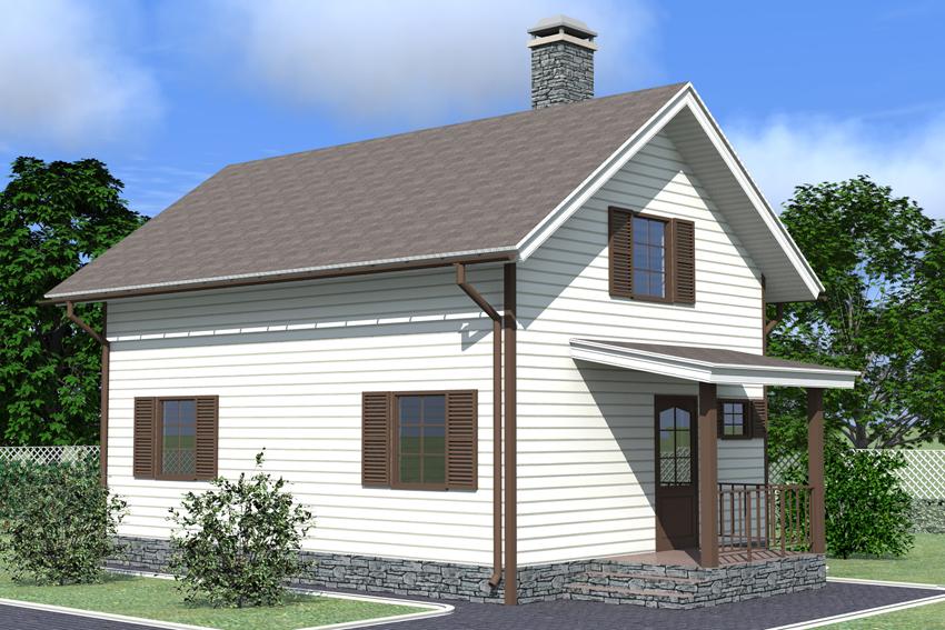 Фото простой дом с мансардой