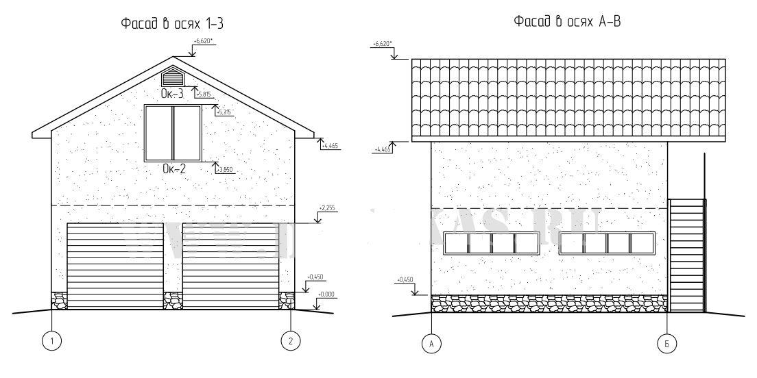 Проект гаража с мансардой 6 8
