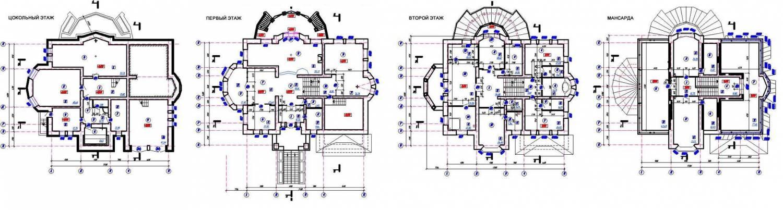 общие данные; планы этажей,