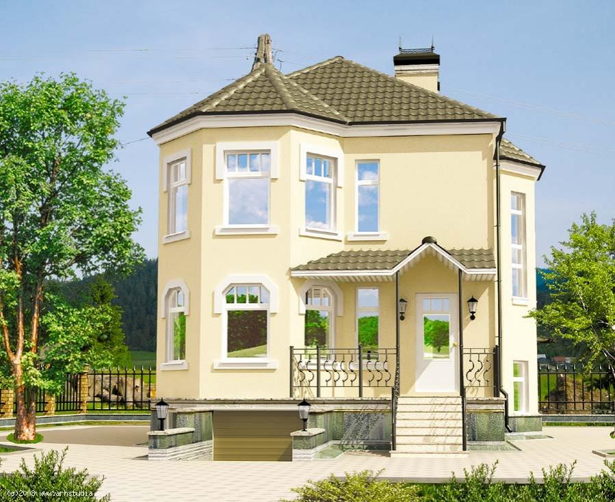 Двухэтажные дома кирпичные фото