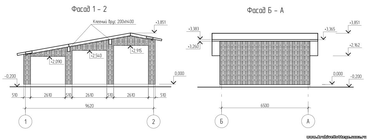 Проект деревянного дома-бани из бруса A-049-1D