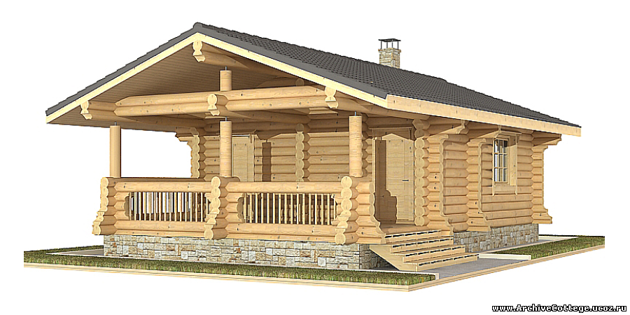 Проект дома из керамзитобетонных блоков и бруса L2411D